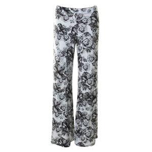 new Lauren Moshi ☻ Cabbage Roses Wide Leg Pants
